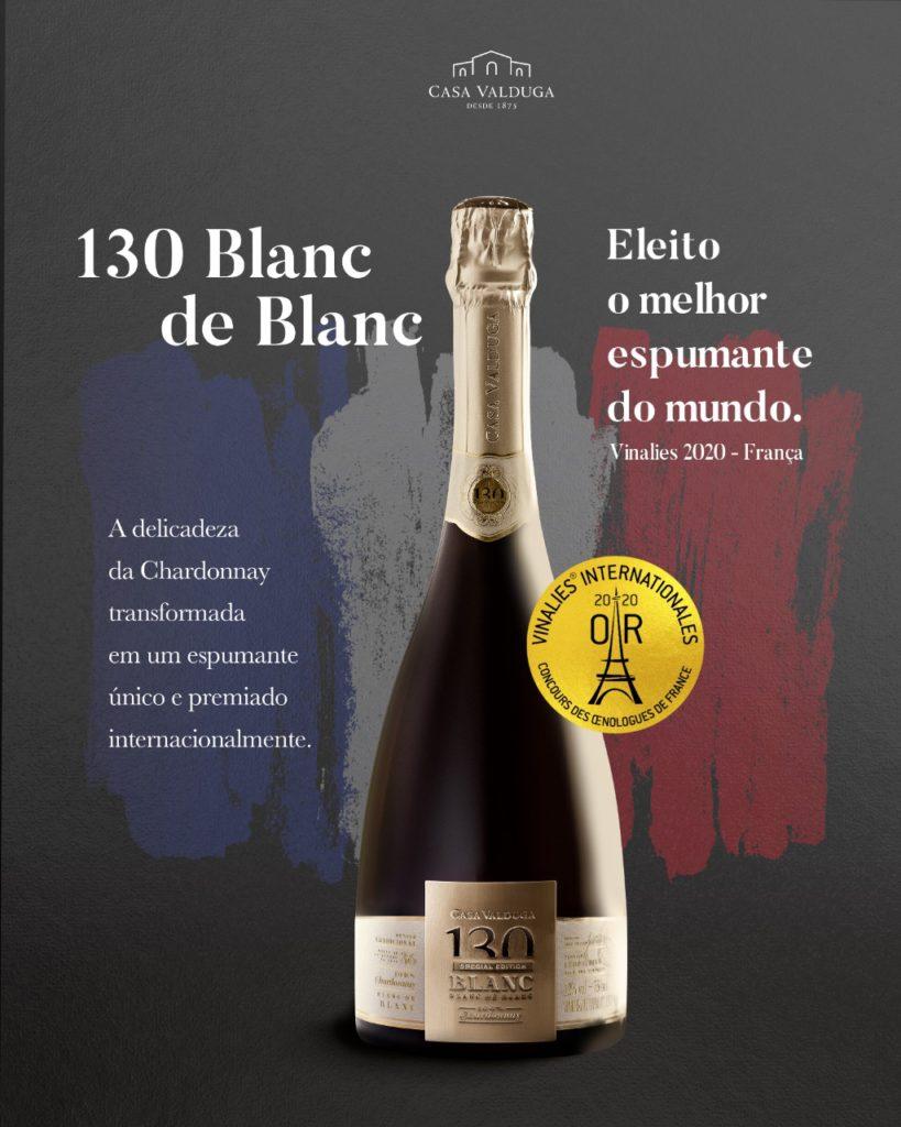 Espumante brasileiro 130 Blanc the Blanc é eleito Melhor do Mundo