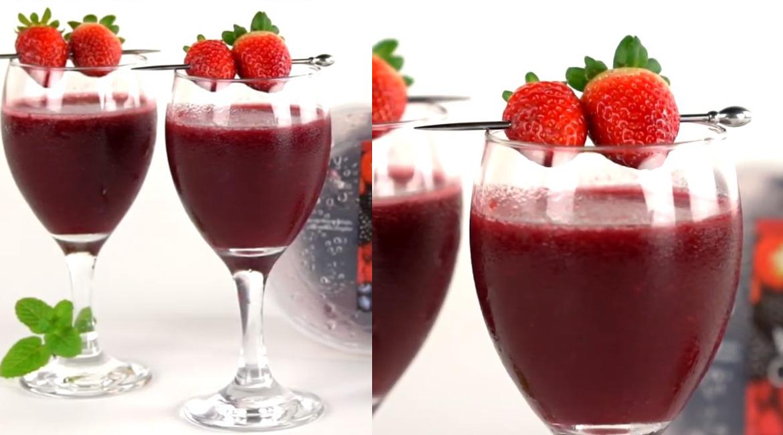 Morango Wine: drink de morangos e vinho seco