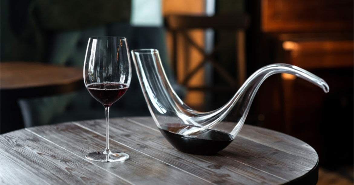 Decanter de vinho ao longo do tempo