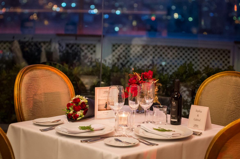 Dia dos namorados: jantar Terraço Itália conta com presente da Concha Y Toro