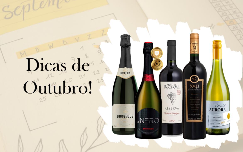 5 vinhos para desfrutar em Outubro